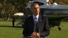 VIDEO: The president says America must continue to lead the global response to the disease.