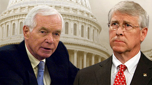 Two of the biggest earmarkers are Republican Senators Thad Cochran and Roger Wicker of Mississippi, which stands to receive $8 million for two rural state airports.