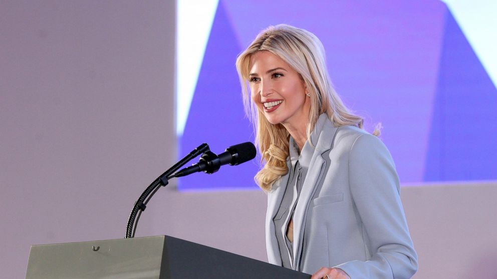 PHOTO: President Donald J. Trump's assistant and daughter Ivanka Trump, speaks at the 'Tweeps 2017' social media forum in Riyadh, Saudi Arabia, May 21, 2017.