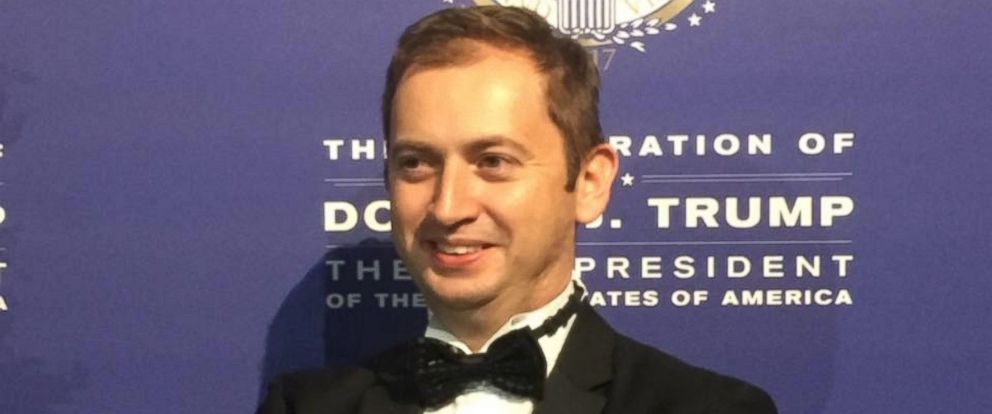 PHOTO: Sergei Millian seen against a background for celebrations of the inauguration of Donald Trump in a photo dated Jan. 21, 2017 on his Facebook page.