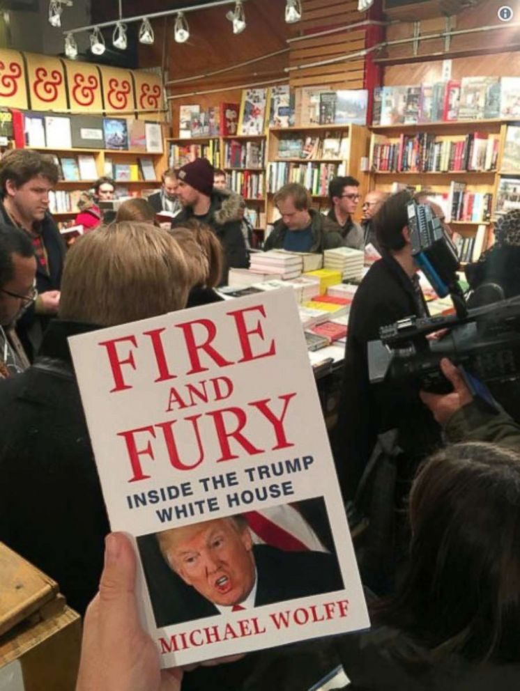 PHOTO: Michael Wolffs book Fire and Fury, at Kramerbooks & Afterwords Cafe, Jan. 5, 2018, in Washington.