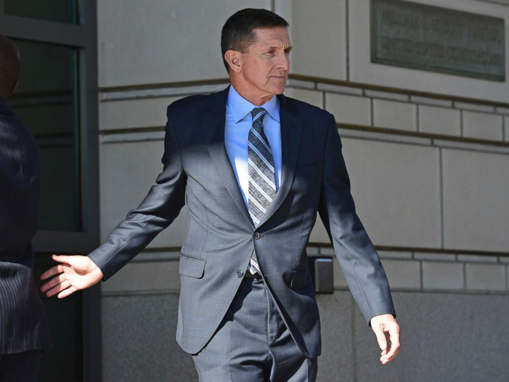 PHOTO: Former Trump national security adviser Michael Flynn leaving the federal court in Washington, Dec. 1, 2017.