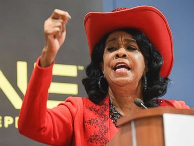 PHOTO: Rep. Frederica Wilson, D-Fla., speaks during the TV Ones Screening Bad Dad Rehab at the Walter E. Washington Convention Center, Sept. 16, 2016, in Washington.