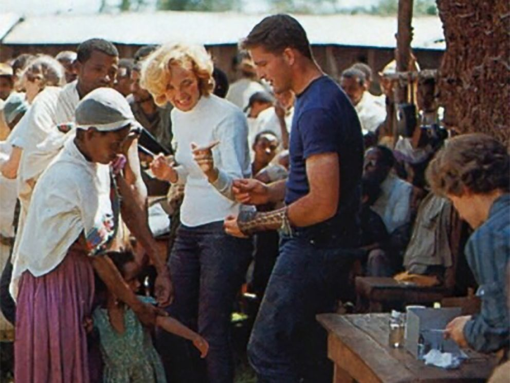 PHOTO: Patti and John Garamendi in Ethiopia with the Peace Corps in the early 1960s.