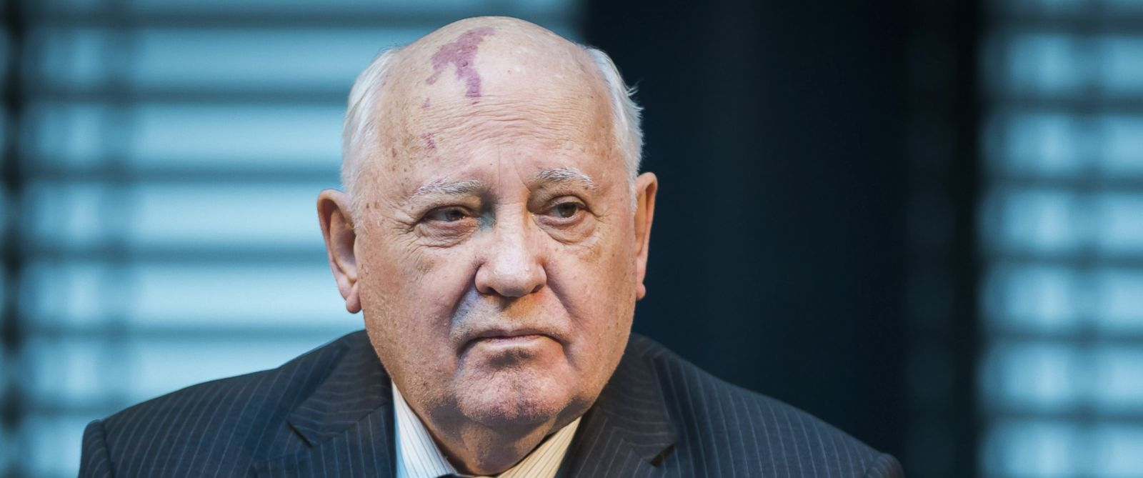 """PHOTO: Former President of the Soviet Union Mikhail Gorbachev attends a symposium on security in Europe 25 years after the fall of the """"Wall"""" in Berlin, Nov. 8, 2014."""