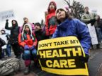 PHOTO: Citizens rally in support of the Affordable Care Act (ACA) outside the Colorado Capitol building in Denver, Colo., Jan. 15, 2017.