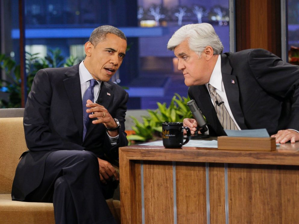 PHOTO: President Barack Obama appears on The Tonight Show with Jay Leno on October 24, 2012.