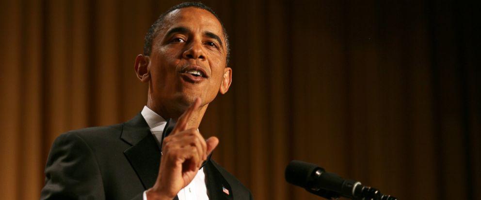 PHOTO: President Barack Obama speaks at the annual White House Correspondents Association Gala at the Washington Hilton hotel, April 30, 2011 in Washington, D.C.