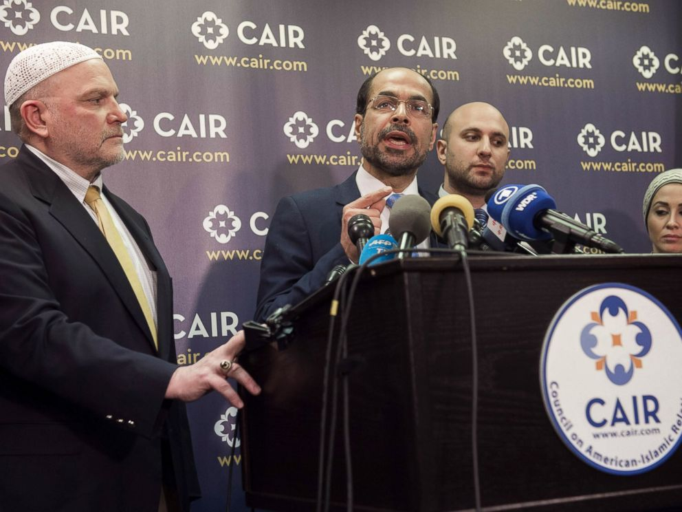 PHOTO: Council on American-Islamic Relations (CAIR) Executive Director Nihad Awad gives a press conference about the lawsuit the organization filed against President Donald Trump at CAIR Headquarters in Washington, D.C., on Jan. 30, 2017.