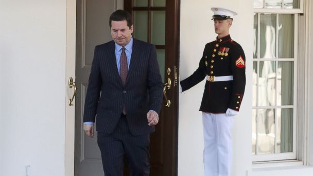 PHOTO: House Intelligence Committee Chairman Devin Nunes walks out of the West Wing after a meeting at the White House March 22, 2017.