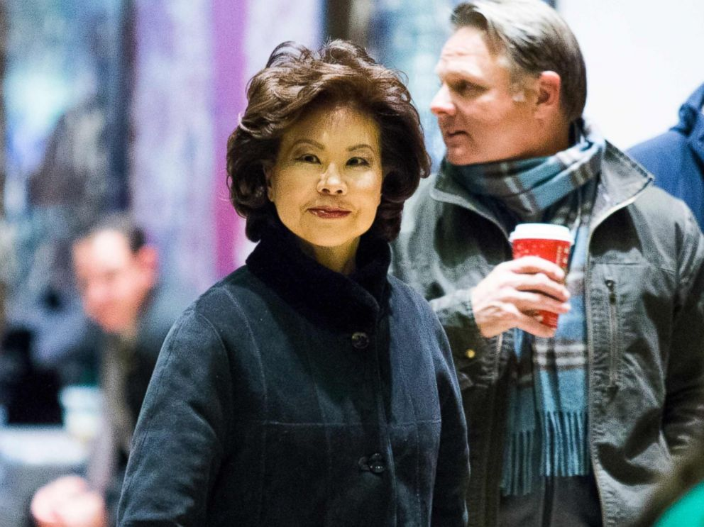 PHOTO: Former U.S. Secretary of Labor Elaine Chao arrives at Trump Tower on another day of meetings scheduled with President-elect Donald Trump on Nov. 21, 2016 in New York.