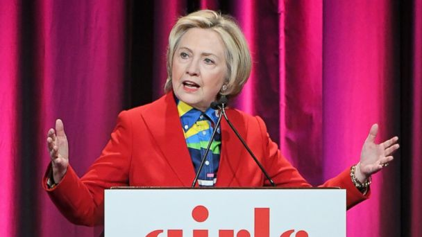 PHOTO: Hillary Clinton speaks during the 2017 Girls Inc. New York luncheon celebrating women of achievement at New York Marriott Marquis Hotel on March 7, 2017 in New York.