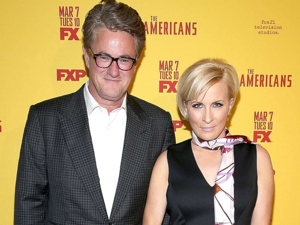 PHOTO: Television hosts Joe Scarborough and Mika Brzezinski attend The Americans Season 5 Premiere at DGA Theater on Feb. 25, 2017 in New York.