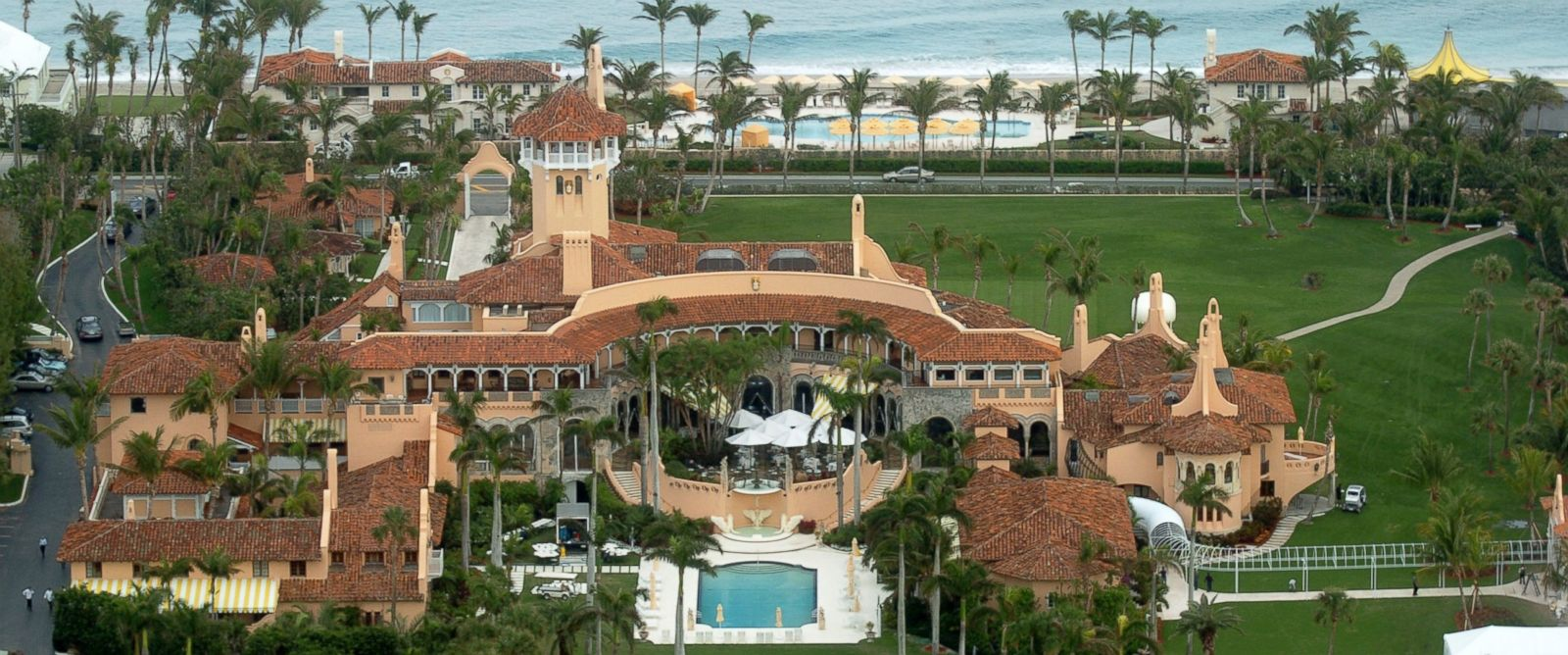 PHOTO: Aerial view of Mar-a-Lago, the estate of Donald Trump, in Palm Beach, Florida, Jan. 20, 2005.