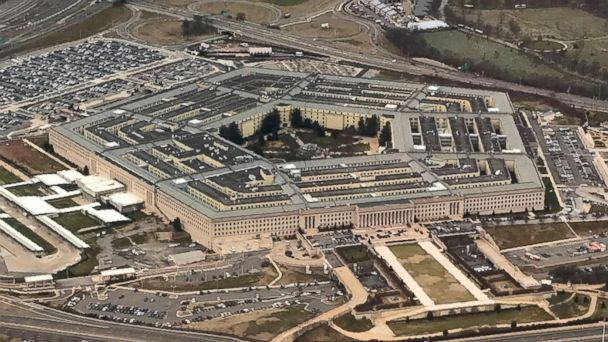 PHOTO: The Pentagon, the headquarters of the U.S. Department of Defense is seen from the air in Arlington, Va., Jan. 24, 2017.