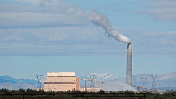 PHOTO: The coal-fired Intermountain Power Plant is seen on March 28, 2016 outside Delta, Utah. The IPP generates more then 13 million megawatt hours of coal-fired energy each year to Utah and Southern California.