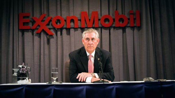 PHOTO: ExxonMobil Chairman Rex Tillerson speaks at a press conference in Dallas, May 28, 2008.