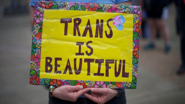 PHOTO: Protesters demonstrate during a rally against the transgender bathroom rights repeal at Thomas Paine Plaza Feb. 25, 2017 in Philadelphia, Pennsylvania.