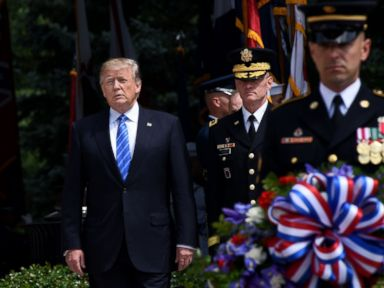 Trump honors fallen soldiers and Gold Star families in Memorial Day speech