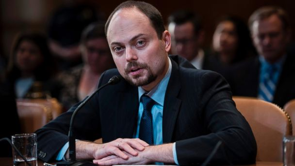 PHOTO: Russian opposition politician Vladimir Kara-Murza testifies on Capitol Hill in Washington, March 29, 2017, before the Senate Appropriation Committee hearing on