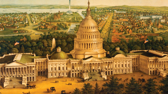 PHOTO: 19th century print of U.S. Capitol