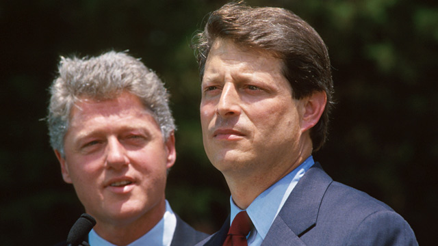 PHOTO: Al Gore and Bill Clinton