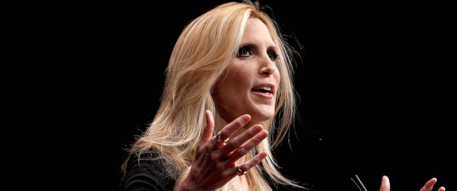 PHOTO: Conservative author and pundit Ann Coulter delivers remarks to the Conservative Political Action Conference in Washington, Feb. 10, 2012.