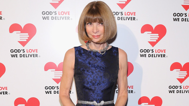 PHOTO: Editor-in-chief of American Vogue Anna Wintour attends
