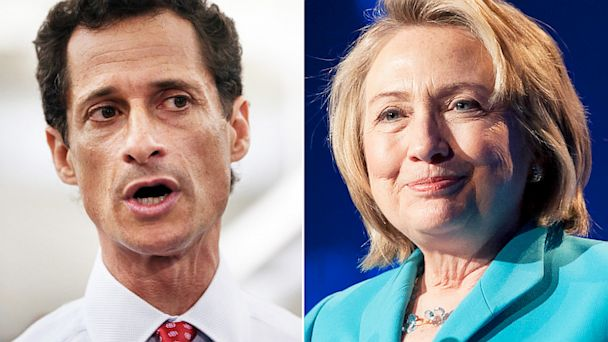 gty anthony weiner clinton dm 130813 16x9 608 Team Clinton Not Laughing at Weiners Joke