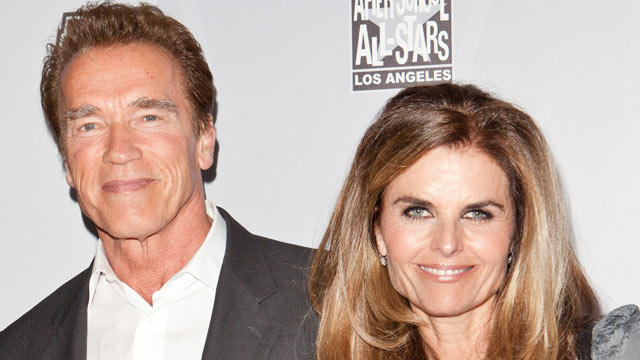 PHOTO: Former California Govermor Arnold Schwarzenegger (L) and Maria Shriver (R) arrive at After-School All-Stars Hoop Heroes Salute launch party at Katsuya on Feb. 18, 2011 in Los Angeles