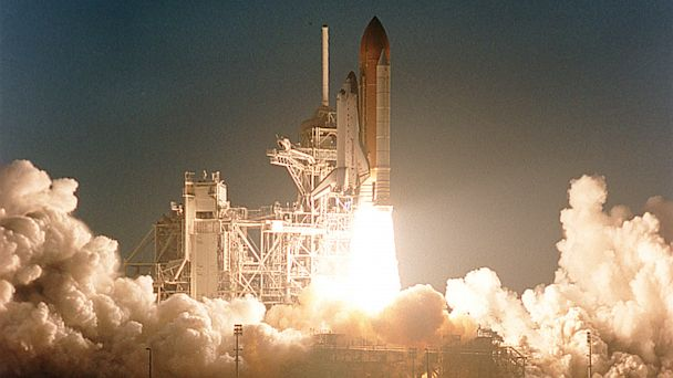 PHOTO: Space shuttle Atlantis lifts off on Feb. 7, 2001 from Kennedy Space Center, Fla., on her way to meet up with the International Space Station.