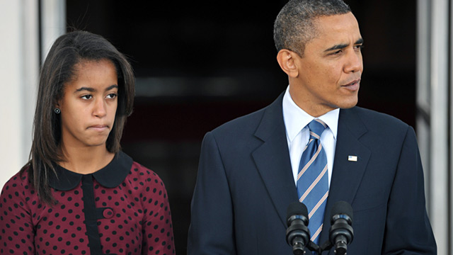 PHOTO: President Barack Obama and daughter Sasha
