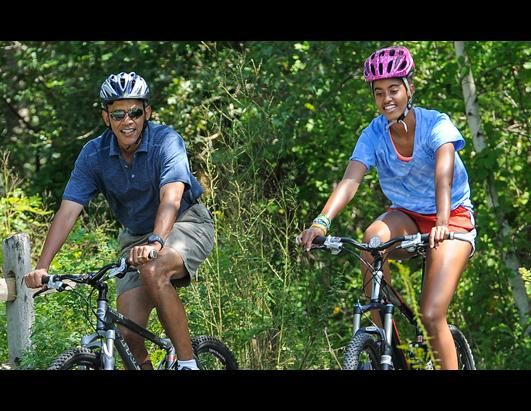 Obama Family On Vacation in Martha's Vineyard