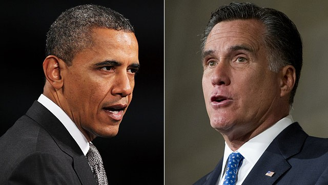 PHOTO: Barack Obama vs Mitt Romney on foreign policy and Syria