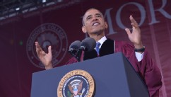 PHOTO: President Barack Obama delivers the commencement address during a ceremony at Morehouse College on May 19, 2013 in Atlanta.
