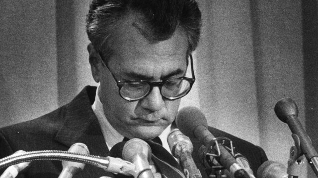 PHOTO: Barney Frank at his press conference where he talks about his relationship with a young man a few years prior, Sept. 25, 1989.
