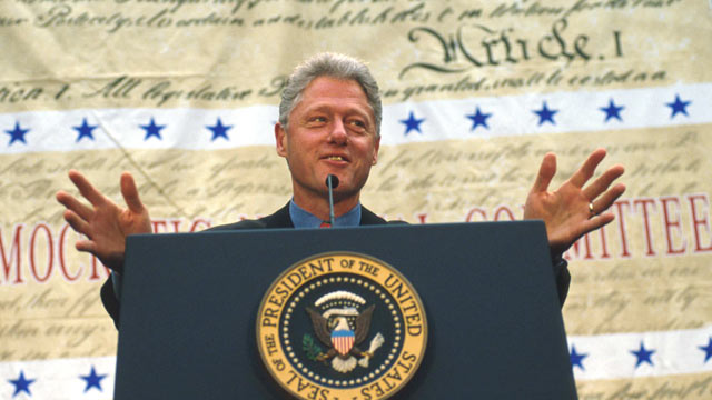 PHOTO: President Clinton speaks at a Democratic National Committee Fundraiser,Denver, CO, Nov. 22, 1997.