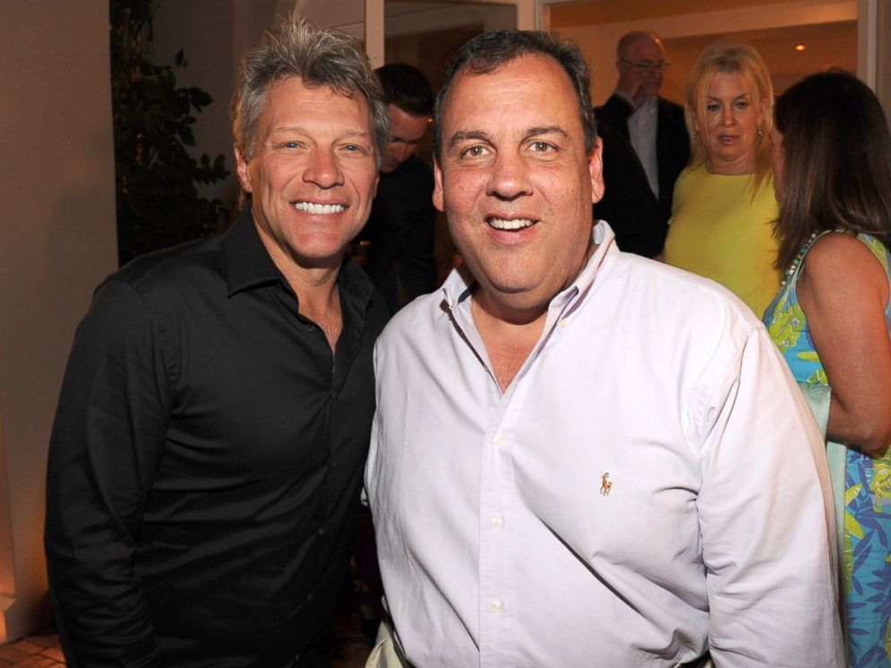 PHOTO: Jon Bon Jovi and New Jersey Governor Chris Christie attend an event on Aug. 16, 2014, in East Hampton, N.Y.