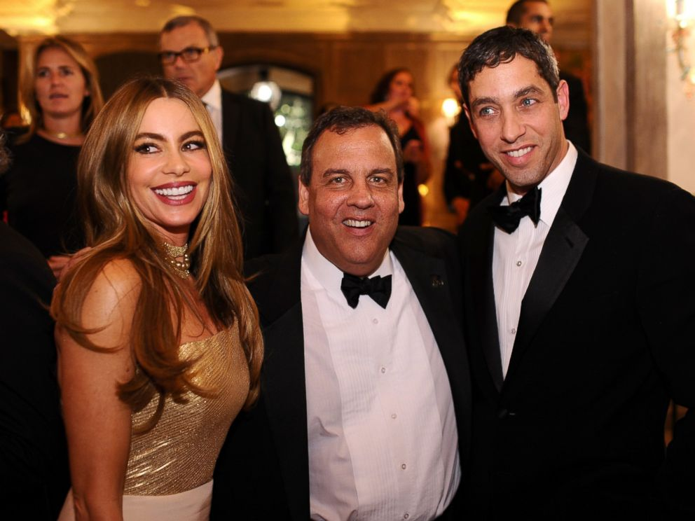 PHOTO: Sofia Vergara, New Jersey Governor Chris Christie and Nick Loeb attend a reception on May 3, 2014, in Washington.