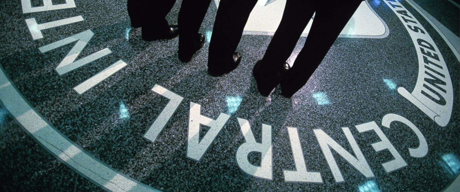 PHOTO: The CIA symbol is shown on the floor of CIA Headquarters at CIA headquarters in Langley, Virginia, July 9, 2014.