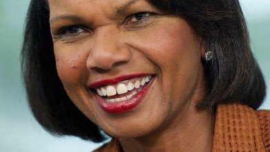PHOTO: Condoleezza Rice, former U.S. secretary of state, speaks during a Bloomberg Television interview inside the Bloomberg Link during the Republican National Convention (RNC) in Tampa, Florida, U.S., on Aug. 30, 2012.