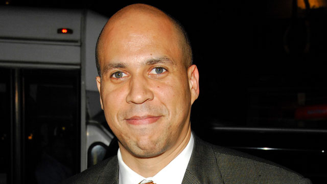 "PHOTO: Newark Mayor Corey Booker attends ""The Color Purple"" performance at the Broadway Theatre, Jan. 09, 2008 in New York City."