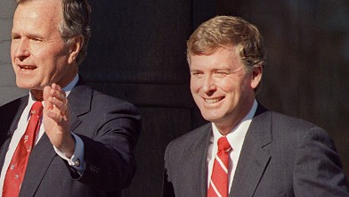 PHOTO: Dan Quayle and George H.W. Bush.