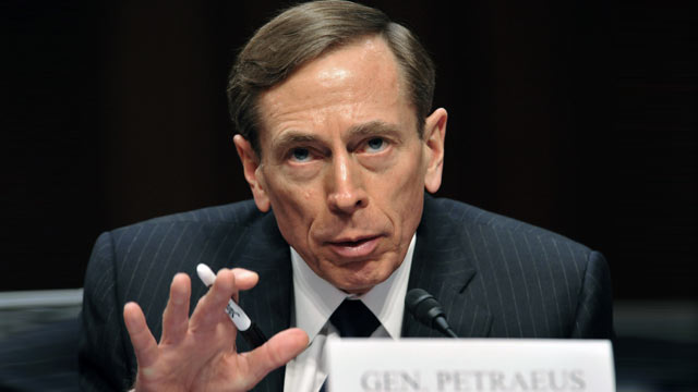 "PHOTO: David Petraeus, testifies before the US Senate Intelligence Committee on ""World Wide Threats."" Jan. 31, 2012 on Capitol Hill in Washington, DC."