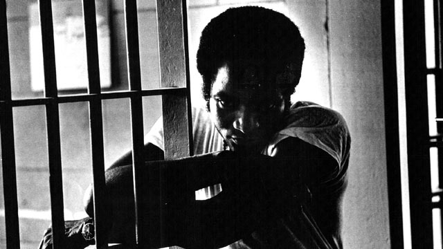 PHOTO: John Major Young leans on the door of his death row cell in prison to talk about the Supreme Court decision outlawing the death penalty as it's imposed, June 30, 1972.