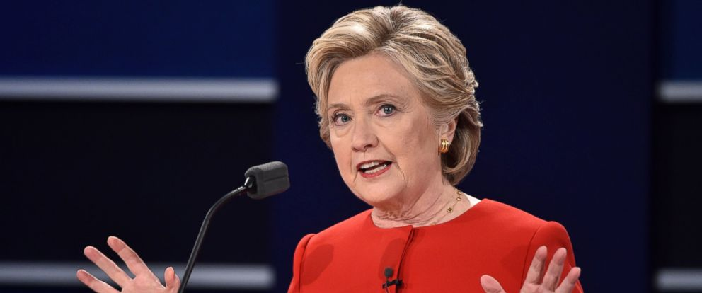 PHOTO: Democratic nominee Hillary Clinton speaks during the first presidential debate at Hofstra University in Hempstead, New York on Sept, 26, 2016.