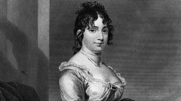 PHOTO: Dorothy Dolley Madison was the wife of James Madison, the 4th President of the United States of America.