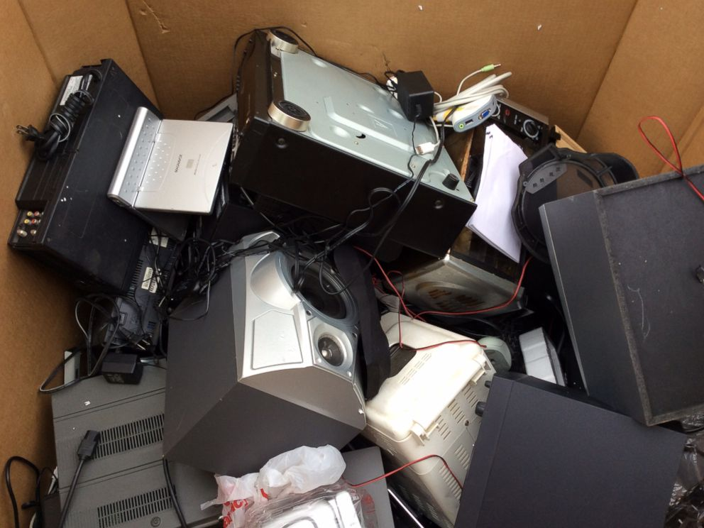 PHOTO: Electronic waste at the Safe Disposal program, organized by the government of New York, offers residence a drive-through drop off their unwanted electronics in New York, May 5, 2014.