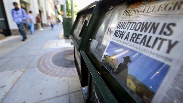 gty federal shutdown ll 131001 16x9 608 Shutdown Could Cost $300 Million a Day