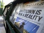 PHOTO: Newspaper headline about federal shutdown